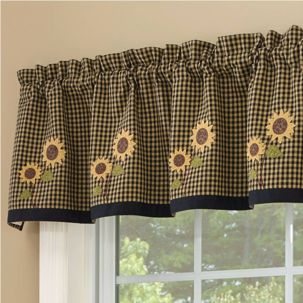 sunflower curtain