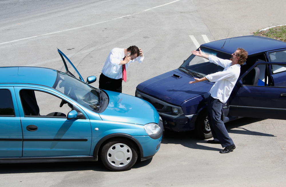 Car accident headache nausea