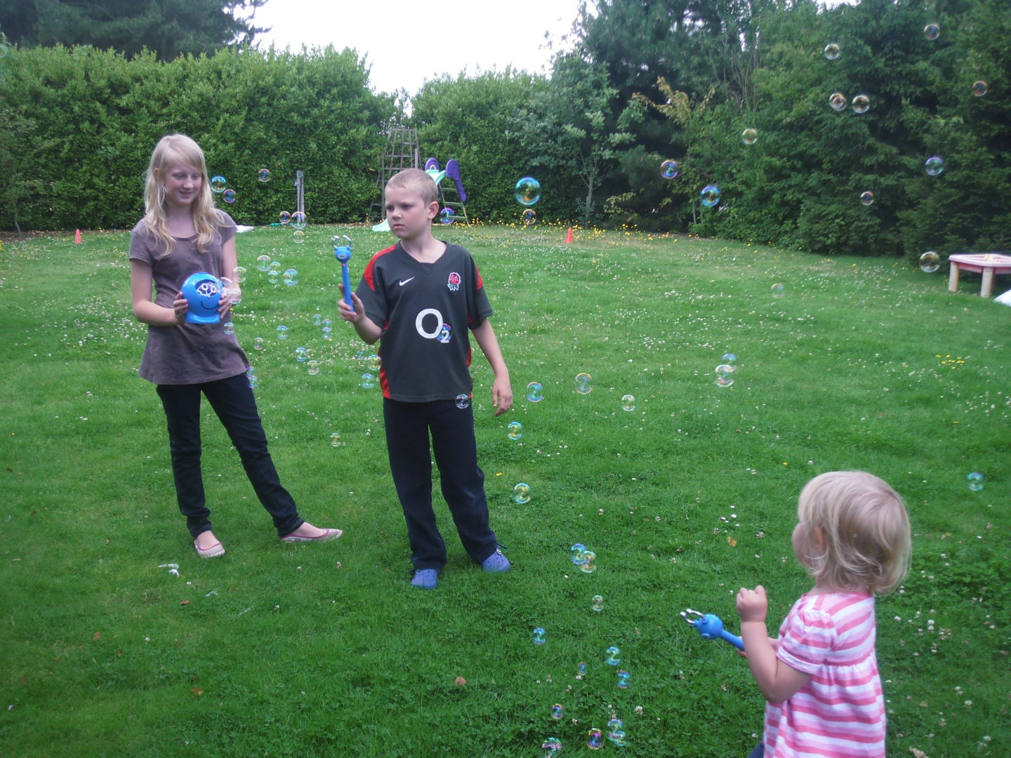 Kids playing Bubble Buster