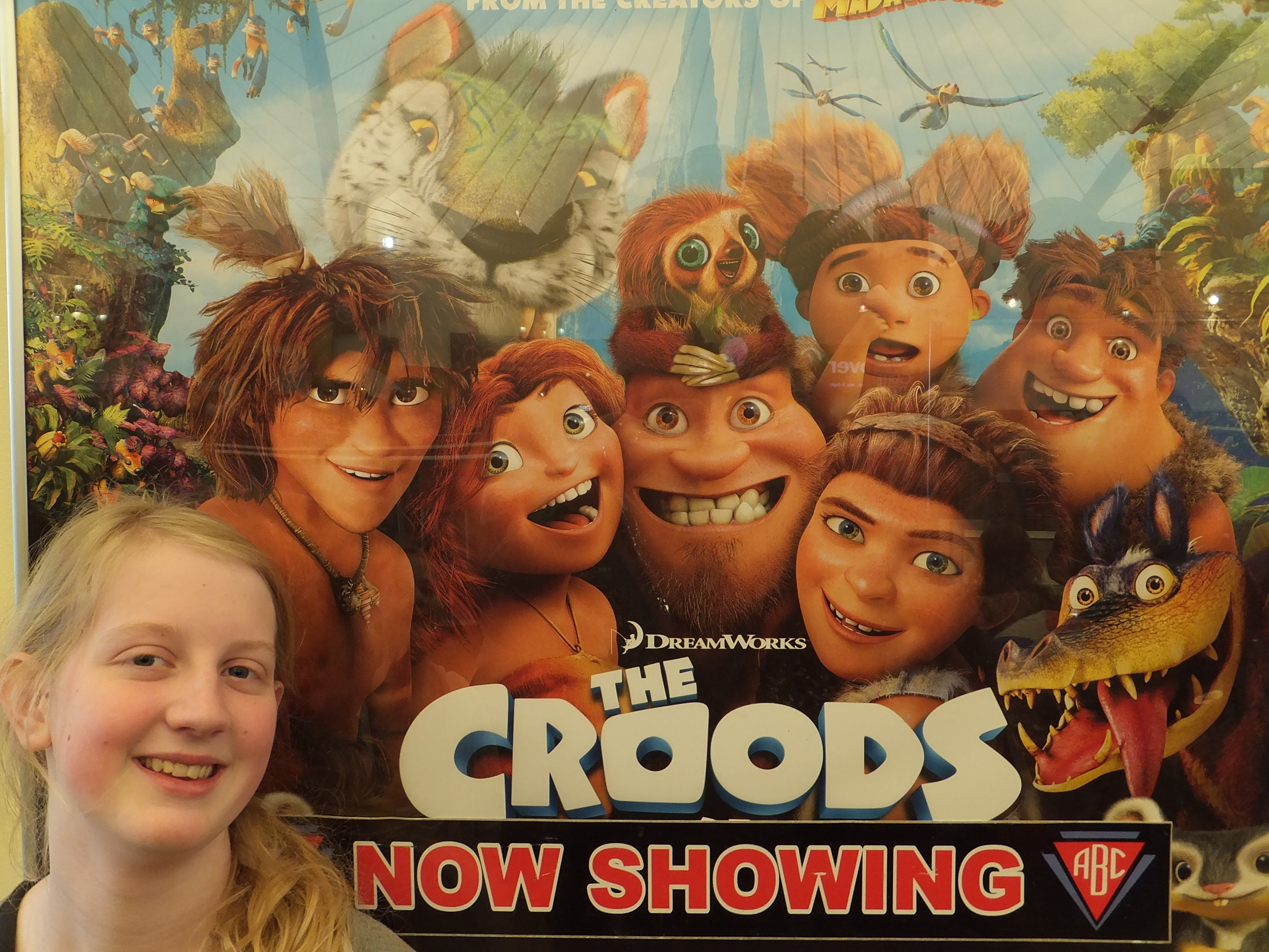 Butlins Skegness Daytime Activities cinema showing The Croods