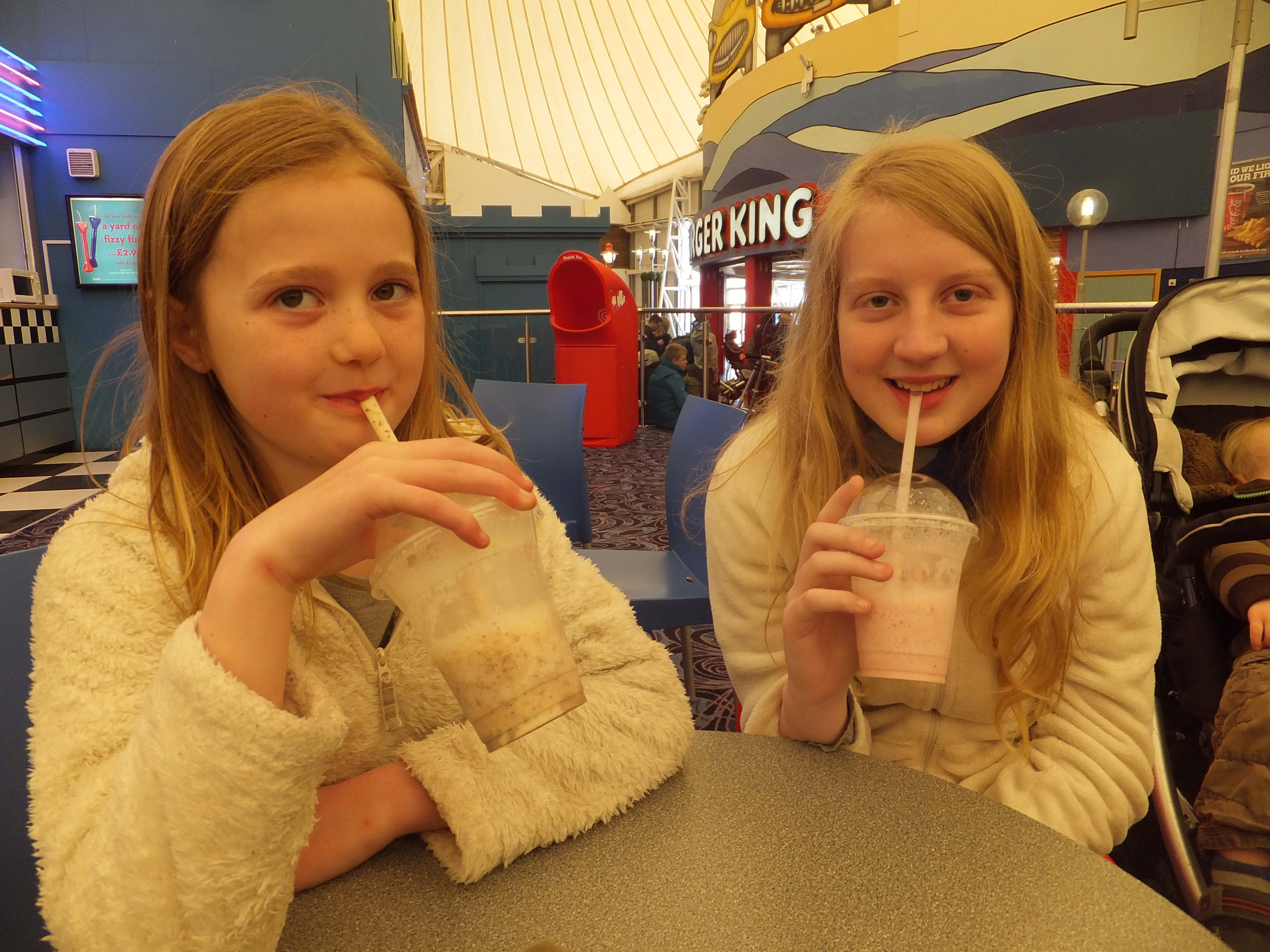 Butlins Skegness Daytime Activities milkshake bar