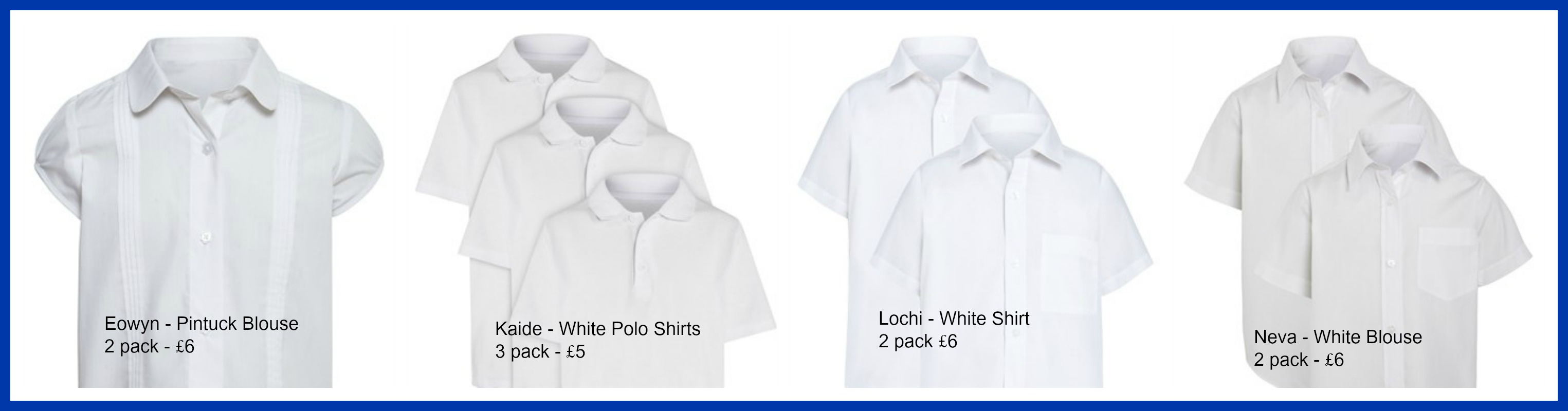 0c4e86b12 ... across to a new High School in September, which requires specific school  uniform, luckily we get to purchase our own choice of white shirts/blouses,  ...