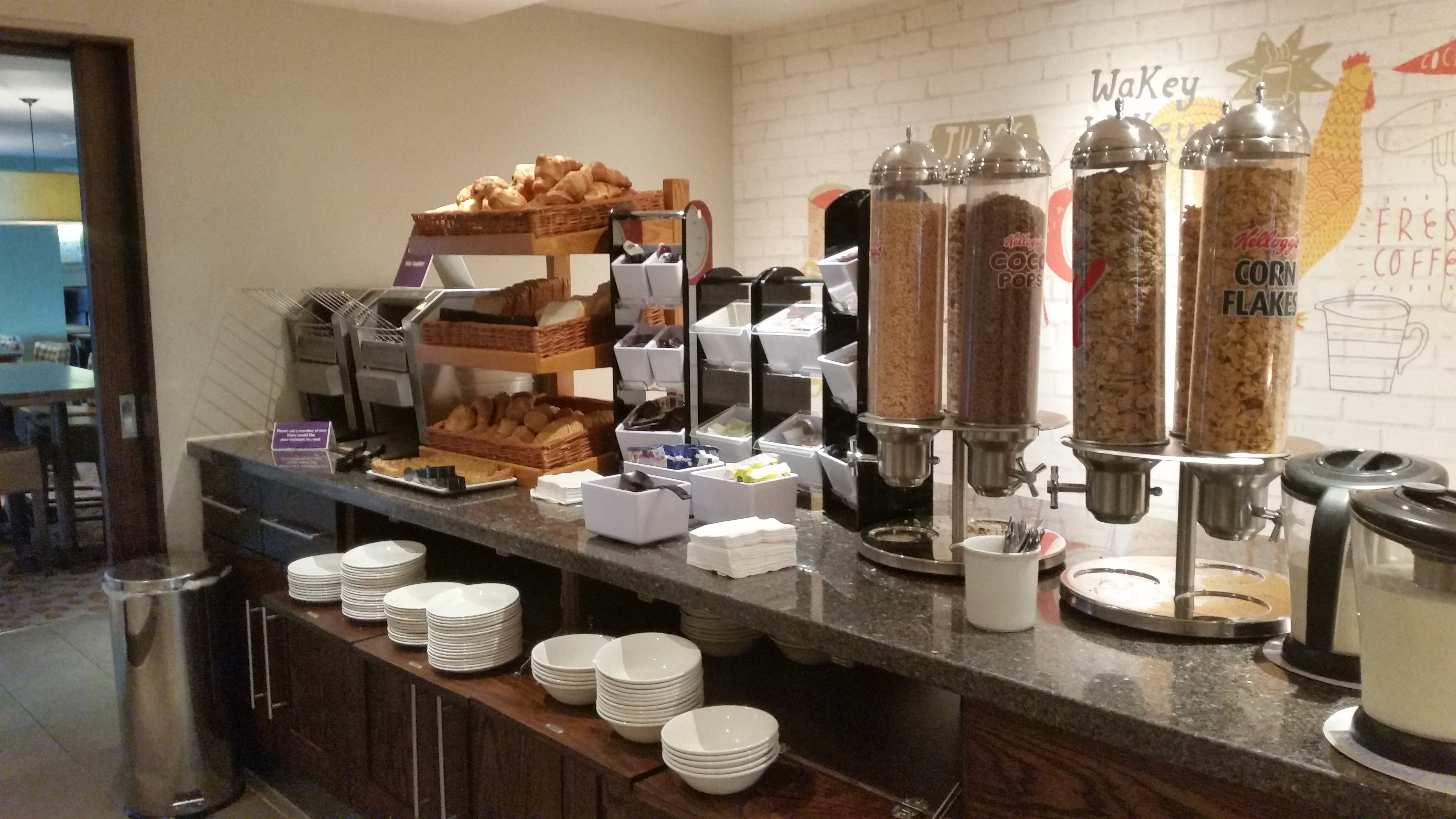 Archway Premier Inn Continental Breakfast