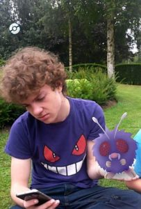 "Lochlan held a wild venonat whilst he was trying to take over the gym for his team which he believes to be the ""Best and most powerful team in the game"""