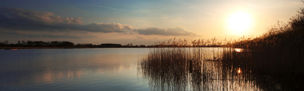 Spring Sunset on Filby Broad, Norfolk
