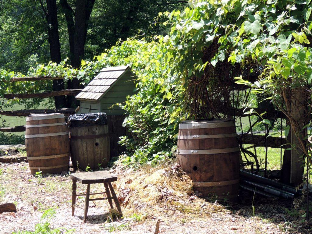 primitive-garden-rain-barrels