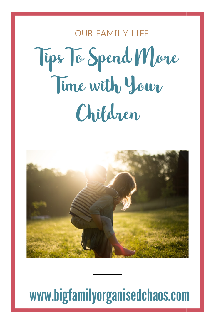 We all lead such busy lives these days and with so many parents both having to work full time, family time is very limited, click through to find tips to spend more time with your children.