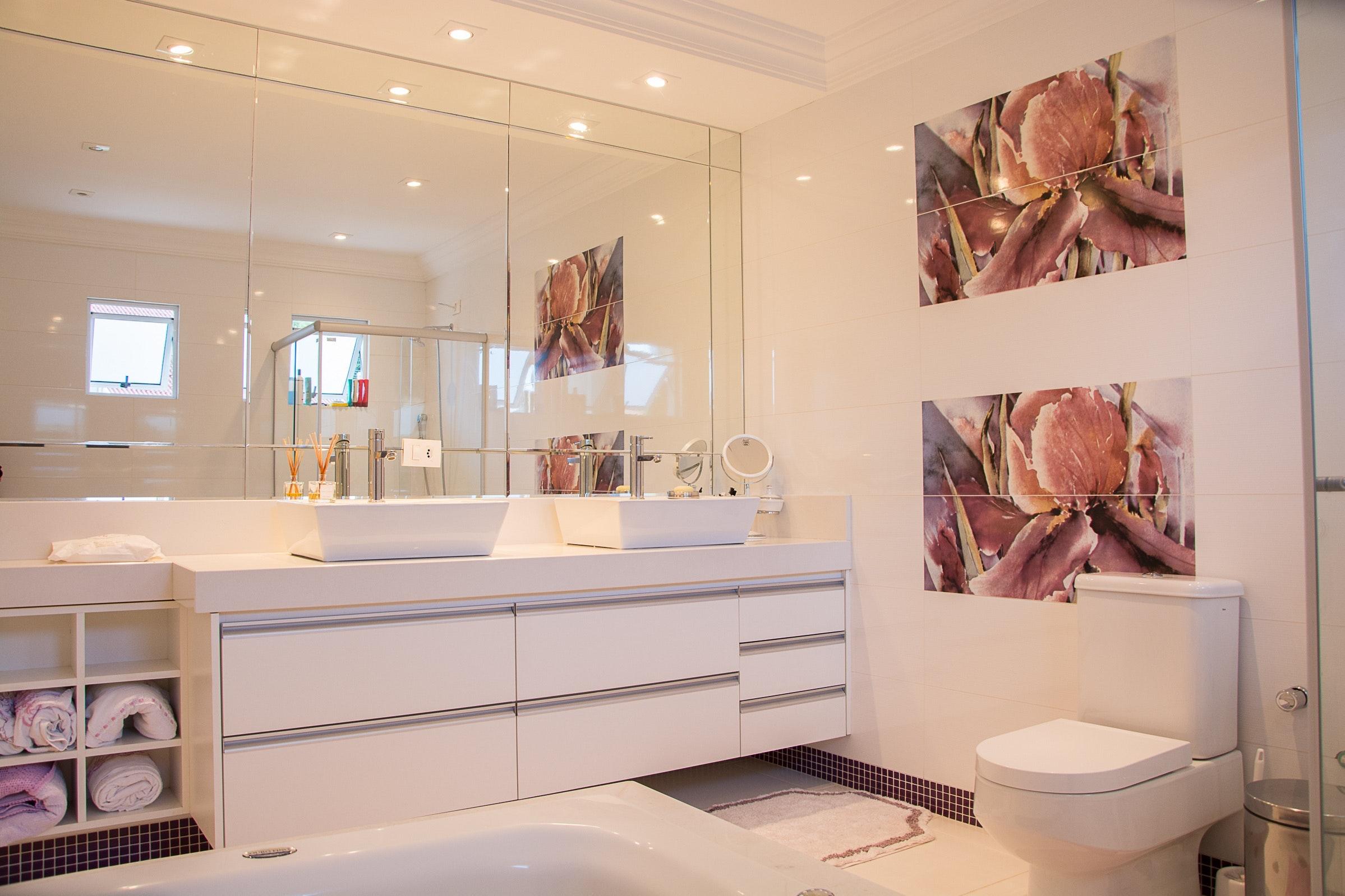 Mirrors are bathroom essentials