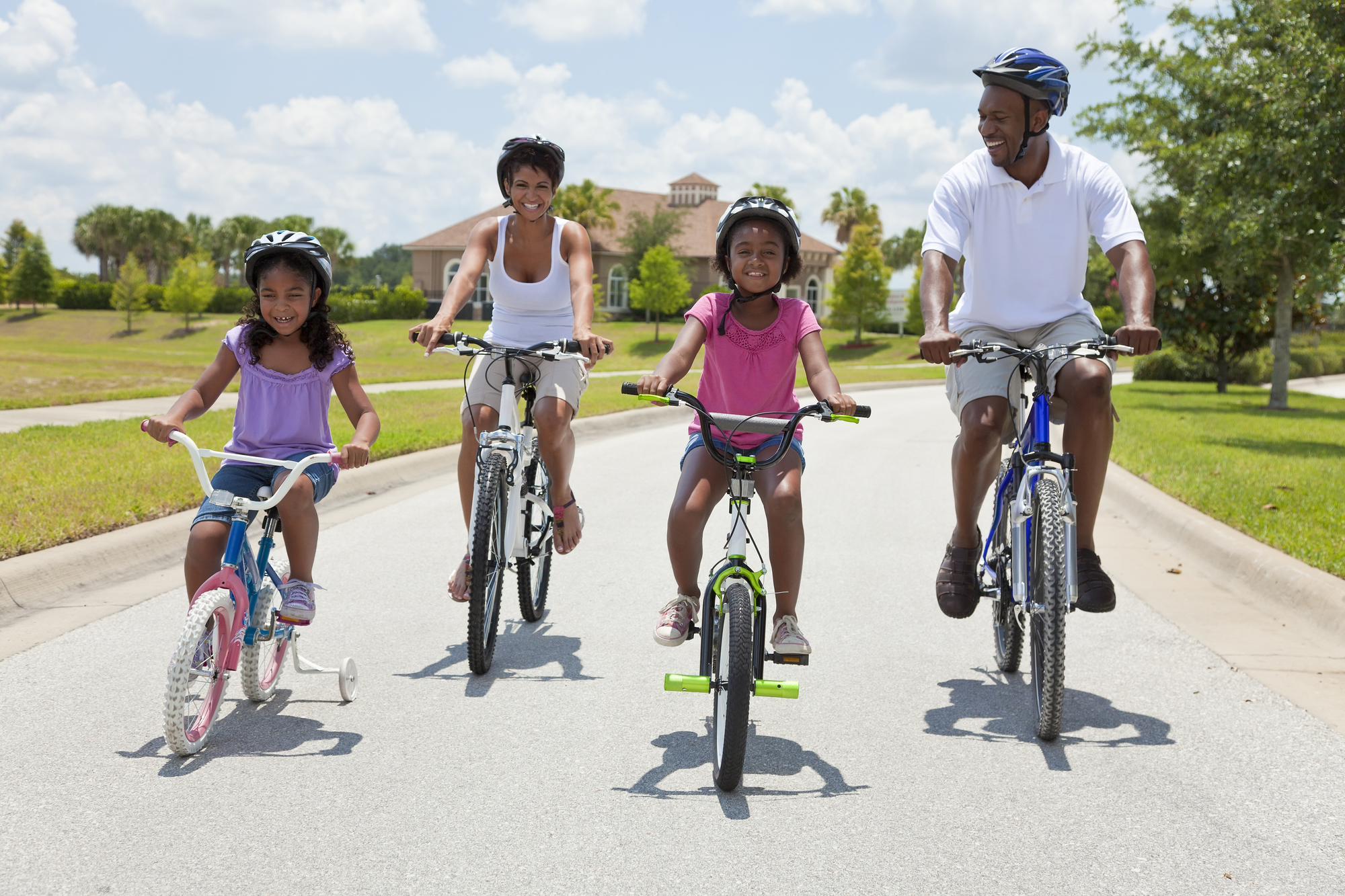 spend time with your family exercising