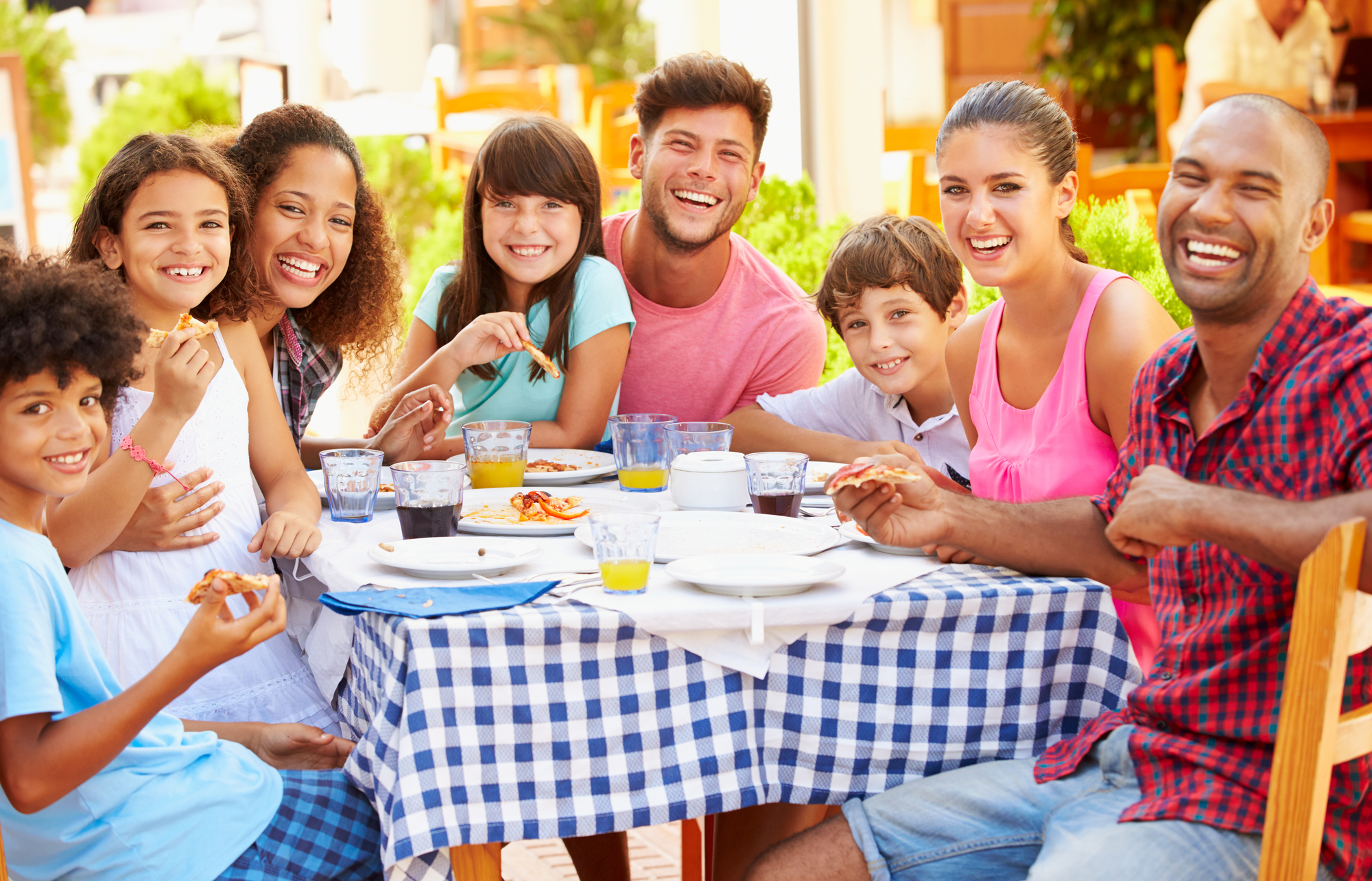 spend time with your family eating together
