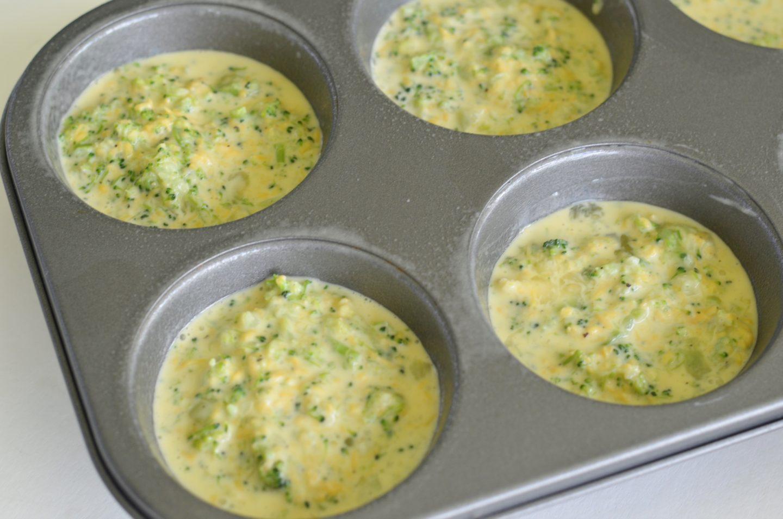 Keto Broccoli and Cheese Mini Quiches