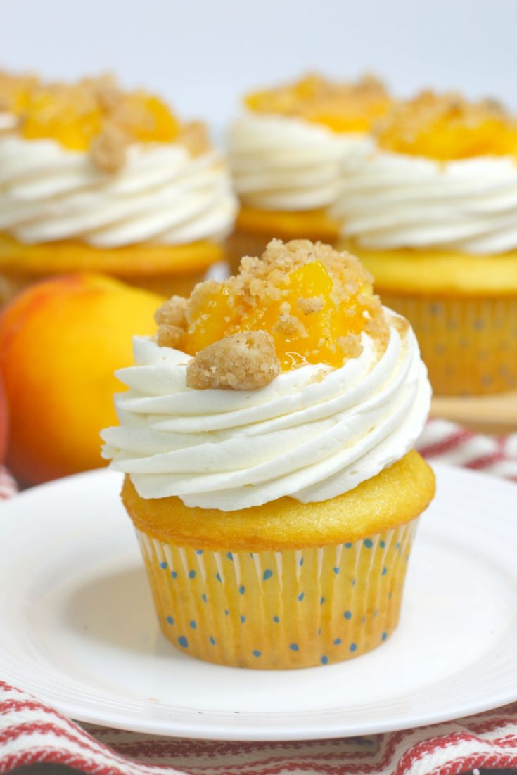 peach pie cupcakes