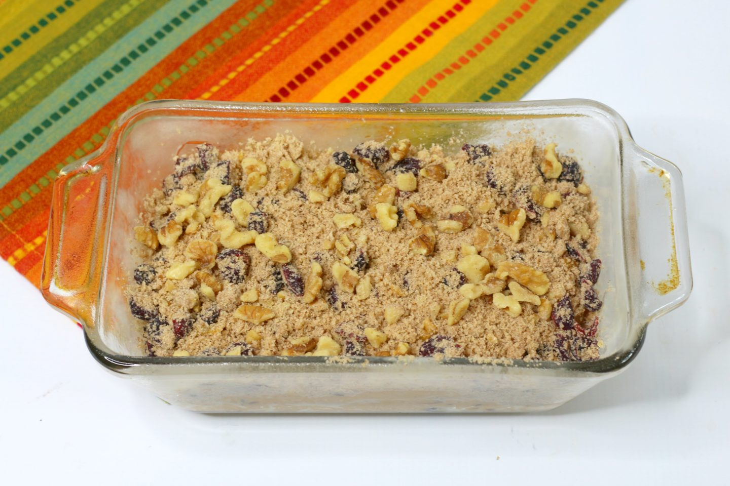 pumpkin cranberry walnut crumble