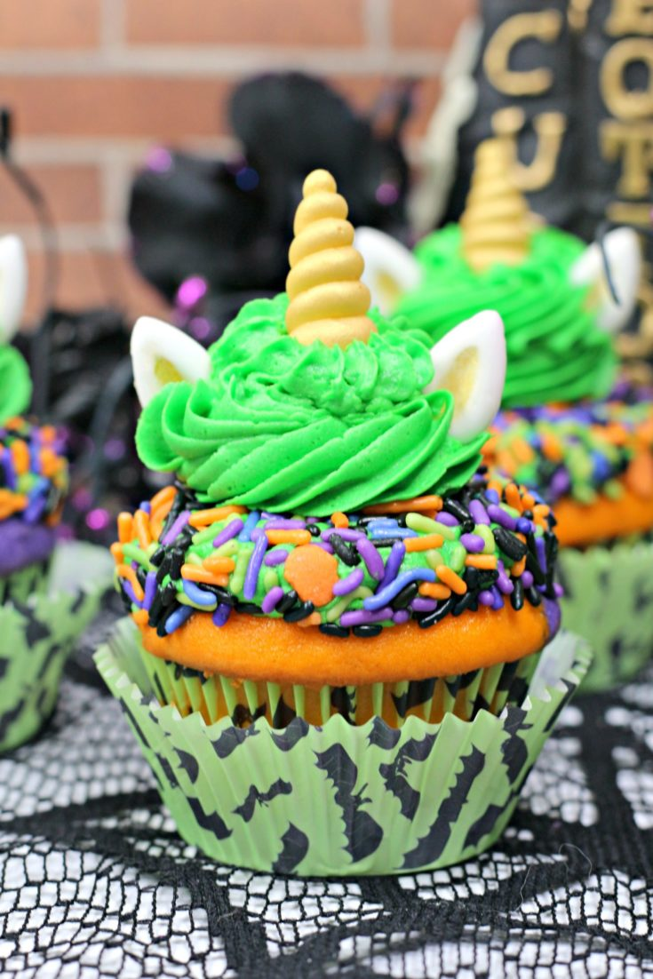 Unicorn Halloween Cupcakes