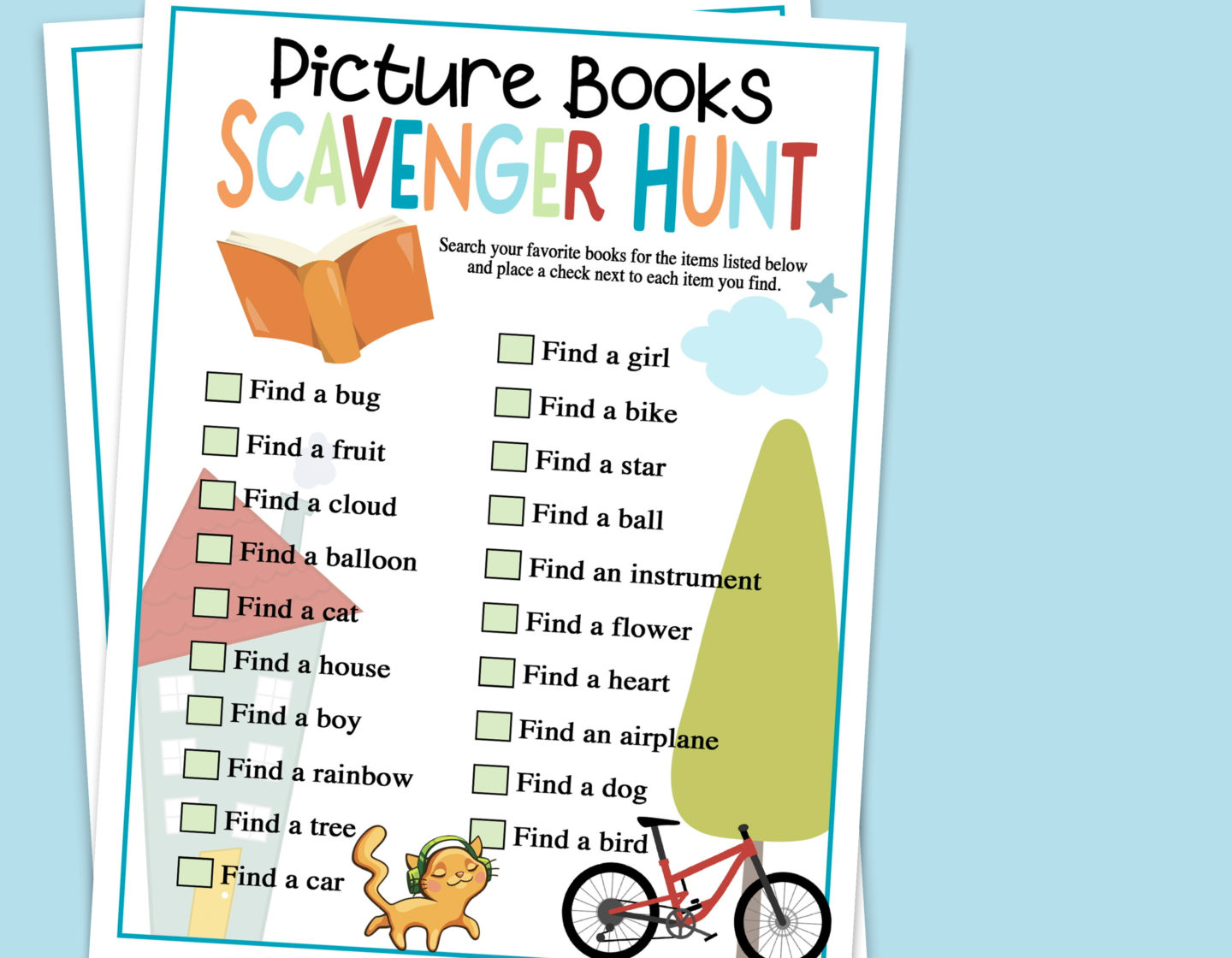 Picture Books Scavenger Hunt