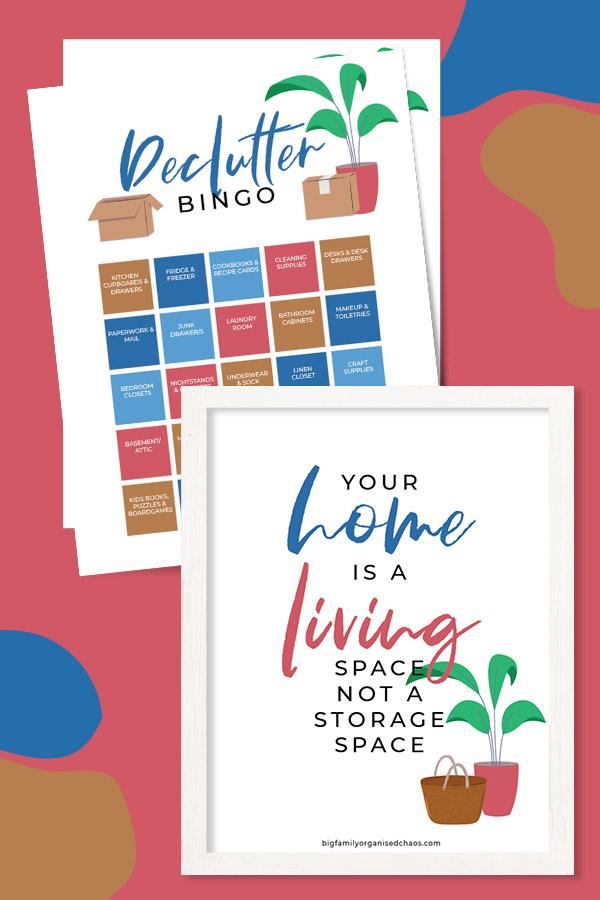 declutter bingo printable